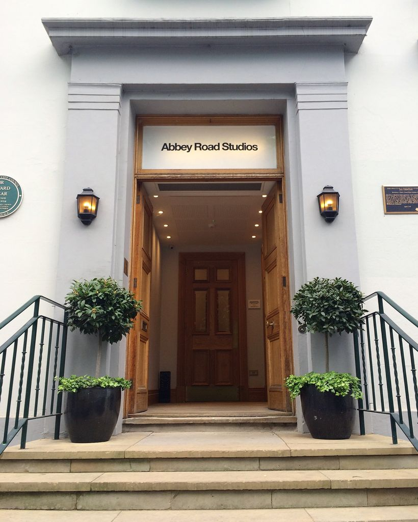 The front of Abbey Road Studios in London.