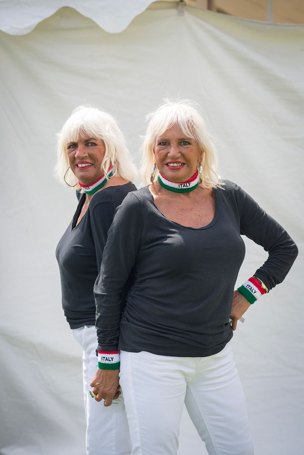 Roselle Burrello (left) and Cecelia Horvath celebrate their Italian heritage.