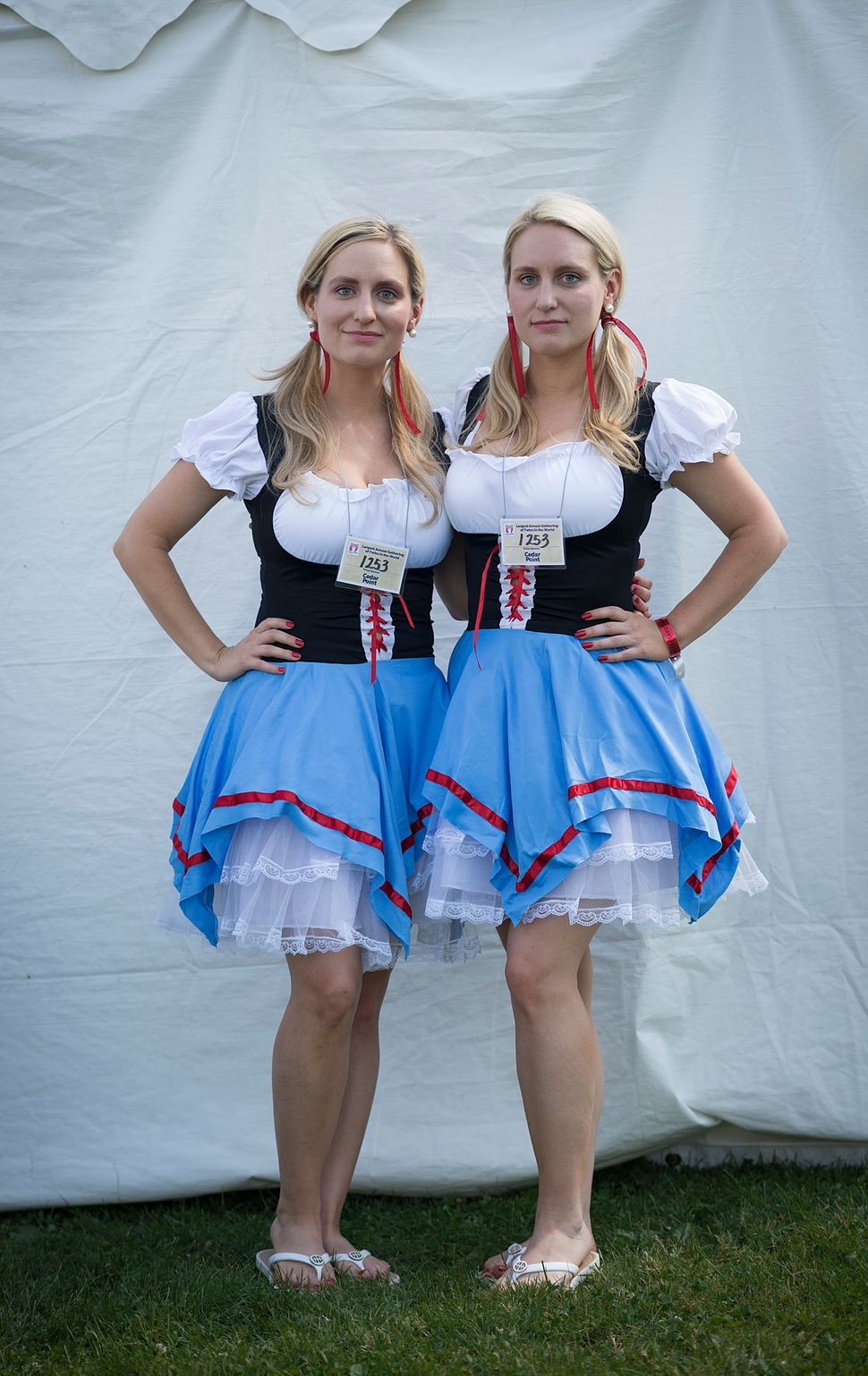 Briana (left) and Brittany Deane celebrate their German-Swiss heritage.