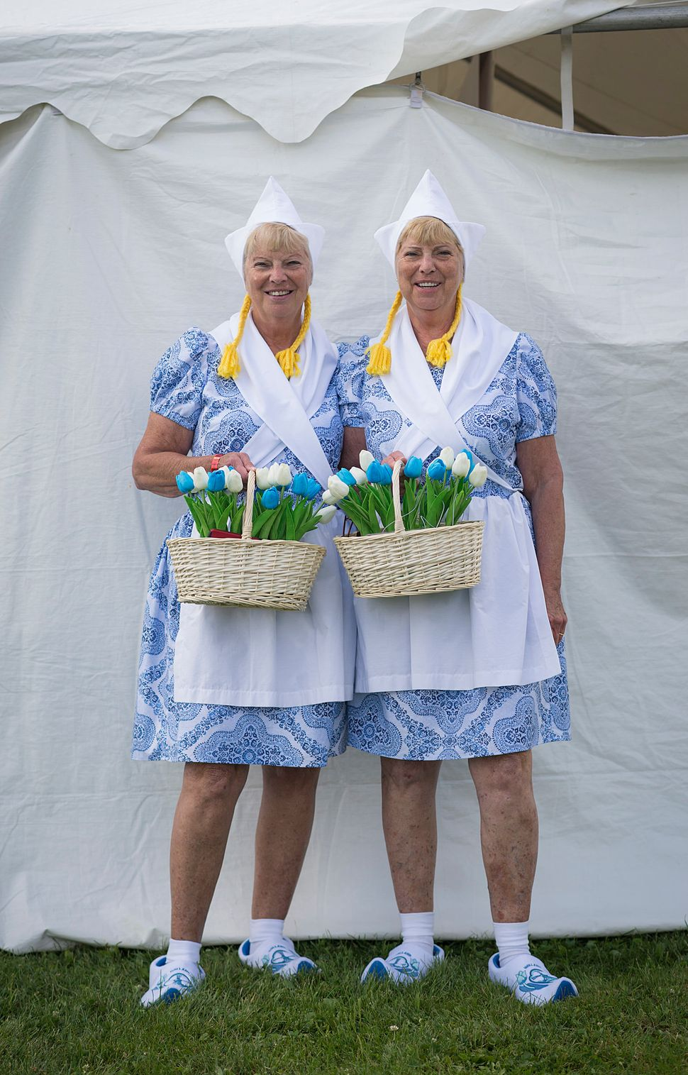 Diane (left) and Donna Perrck embrace their Dutch ancestry.