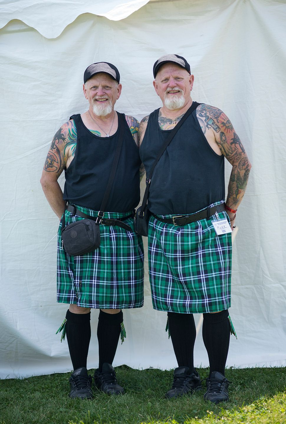 Mike (left) and Mark Smith show off their Scottish background.
