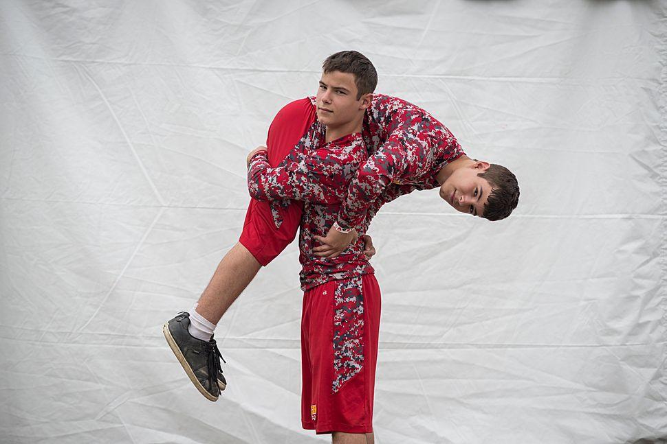 Daniel(left) and Zachery Ross love Greco-Roman wrestling.