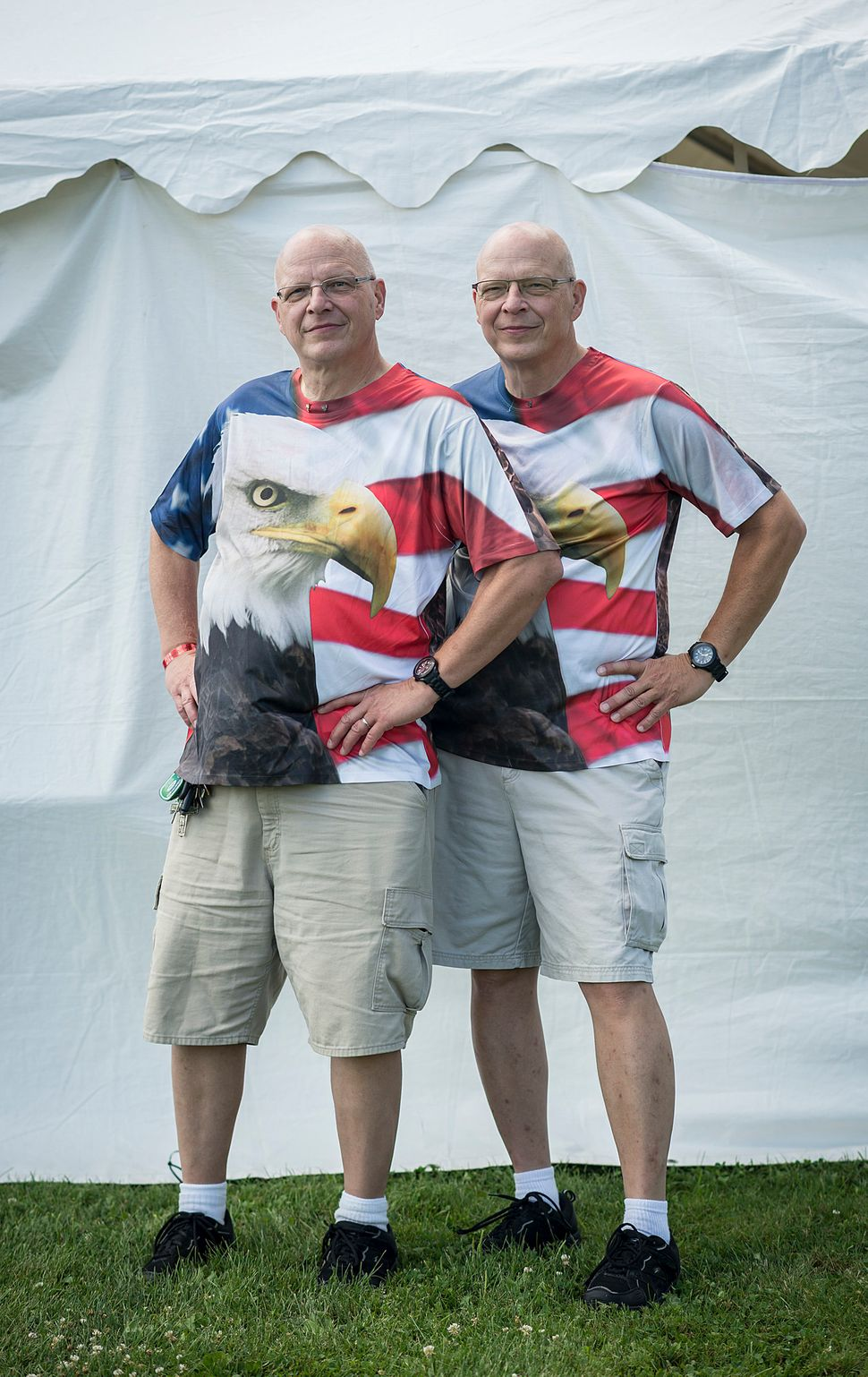 Jerry(left) and John Starrett are all American.