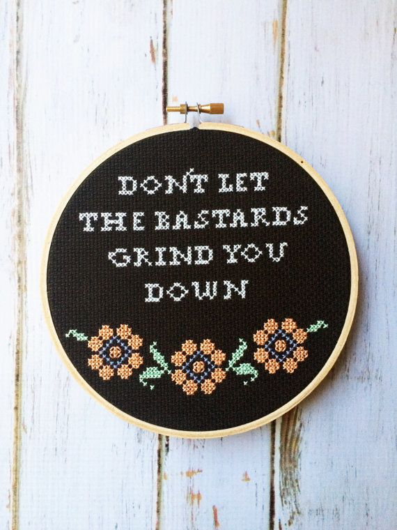 """<a href=""""https://www.etsy.com/listing/509913866/funny-cross-stitch-dont-let-the-bastards?ga_order=most_relevant&ga_search"""