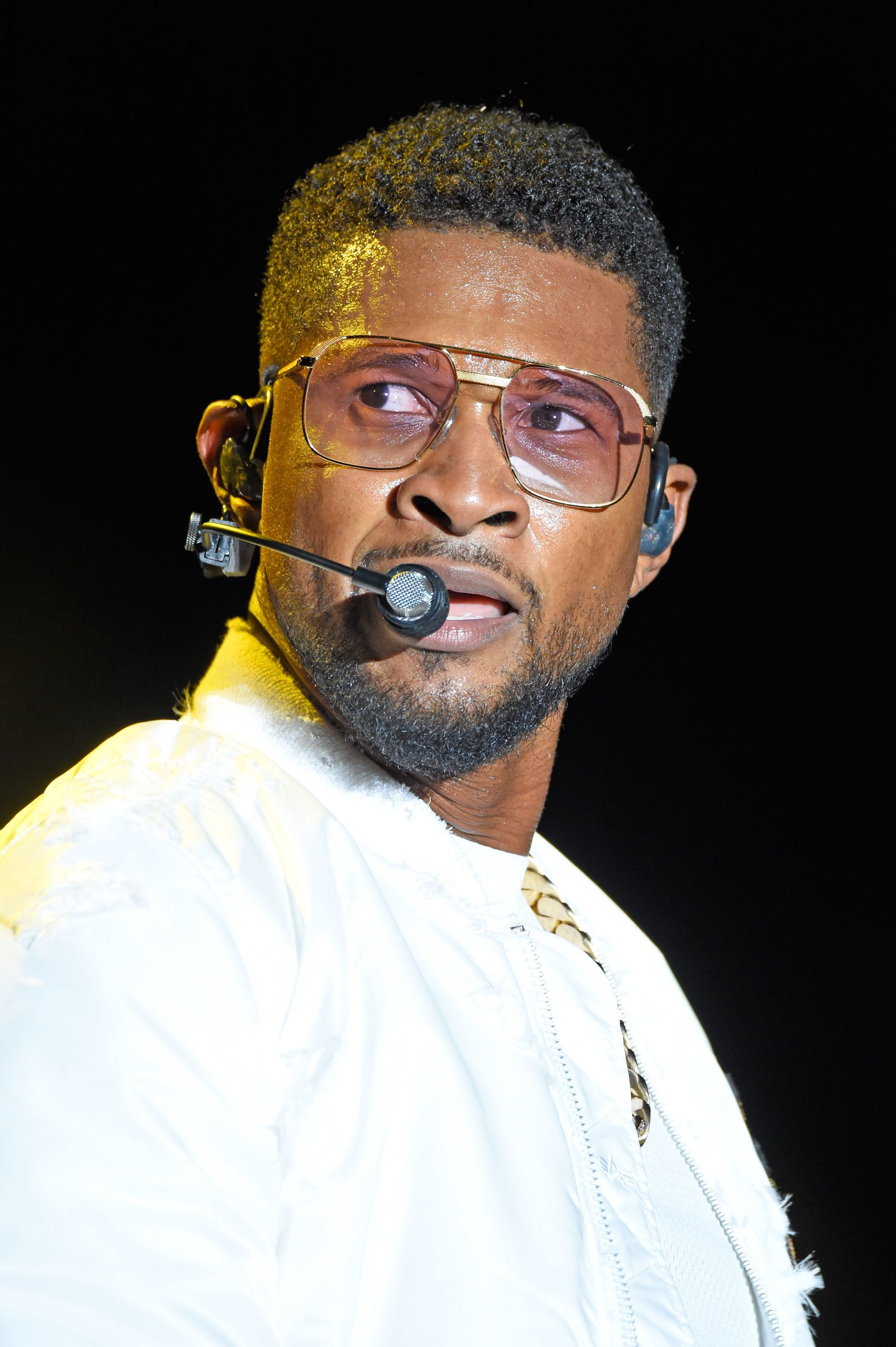 CINCINNATI, OH - JULY 29:  Usher  performs during the 2017 Cincinnati Music Festival at Paul Brown Stadium on July 29, 2017 in Cincinnati, Ohio.  (Photo by Stephen J. Cohen/Getty Images)