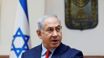 Israeli Prime Minister Benjamin Netanyahu speaks during the weekly cabinet meeting at his office in Jerusalem August 6, 2017. REUTERS/Gali Tibbon/Pool
