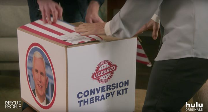 "A ""Conversion Therapy Kit"" from ""Difficult People"" Season 3."