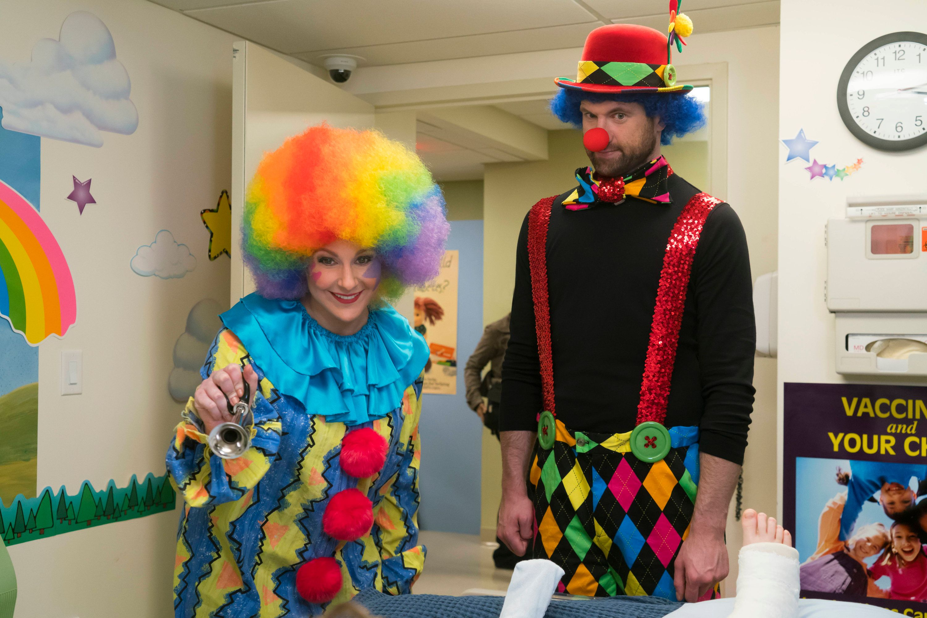 DIFFICULT PEOPLE -- 'Passover Bump' Episode 301 -- Pictured: (l-r) Julie Klausner as Julie Kessler, Billy Eichner as Billy Epstein -- (Photo by: Barbara Nitke/Universal Cable Productions/NBCU Photo Bank via Getty Images)