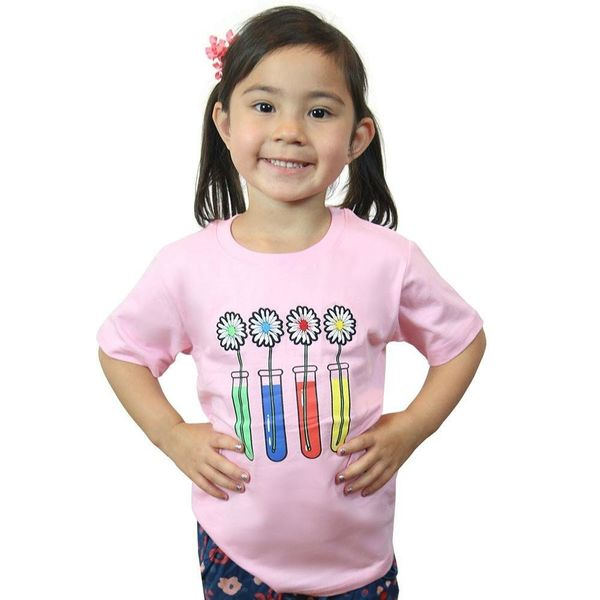 """$14.99, Svaha. <a href=""""https://svahausa.com/collections/kids-t-shirts/products/science-experiment-embroidered-kids-t-shirt?v"""