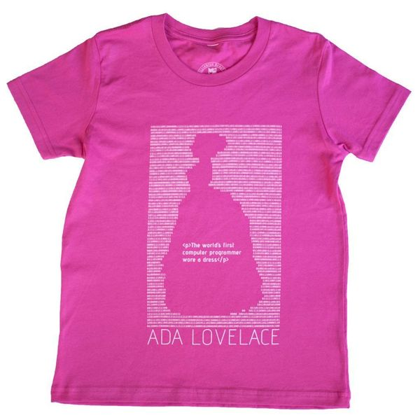 """$28.00, Clever Belle. <a href=""""https://cleverbelle.com/collections/apparel/products/ada-lovelace-t-shirt"""" target=""""_blank"""">Buy"""