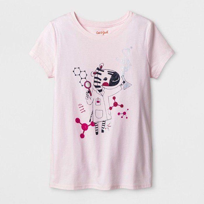 "$5.00, Target's Cat &amp; Jack Line. <a href=""https://www.target.com/p/girls-short-sleeve-zebra-graphic-t-shirt-cat-jack-153-"