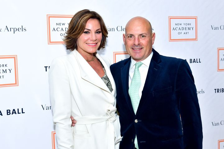 Luann de Lesseps and Tom D'Agostino in April 2017.