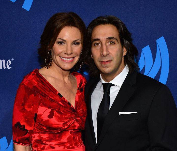 Luann de Lesseps and Jacques Azoulay at the GLAAD Media Awards in 2013.