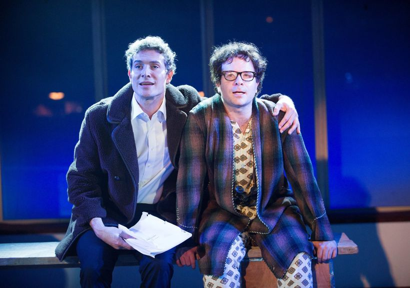 Mark Umbers and Damian Humbley in the London production of <em>Merrily We Roll Along.</em>