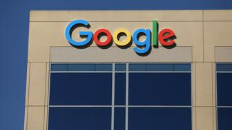 The Google logo is pictured atop an office building in Irvine, California, U.S. August 7, 2017.   REUTERS/Mike Blake