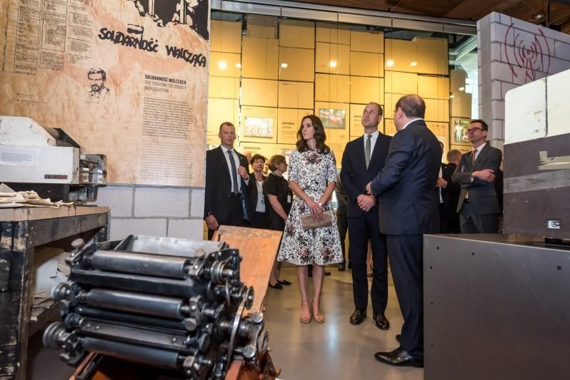 The duke and duchess of Cambridge visiting the European Solidarity Center in Gdansk