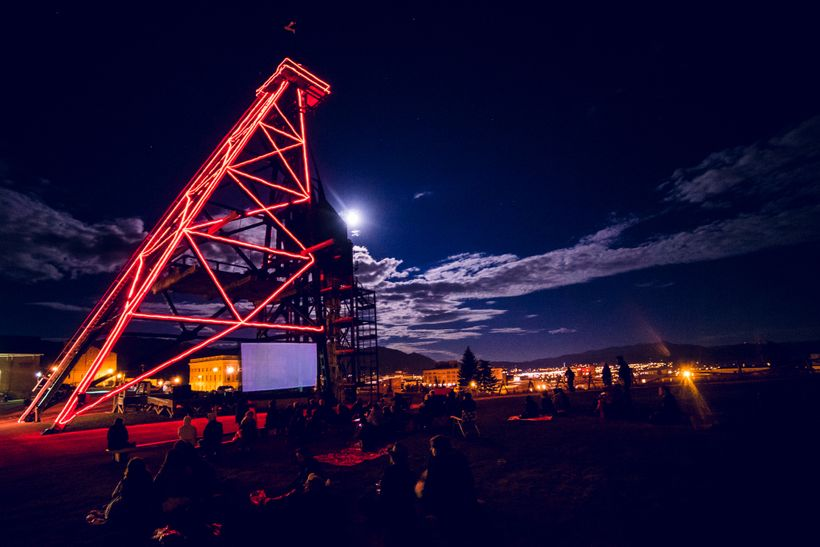 The Iconic Original Headframe at the opening Night of 2016 Film Fest