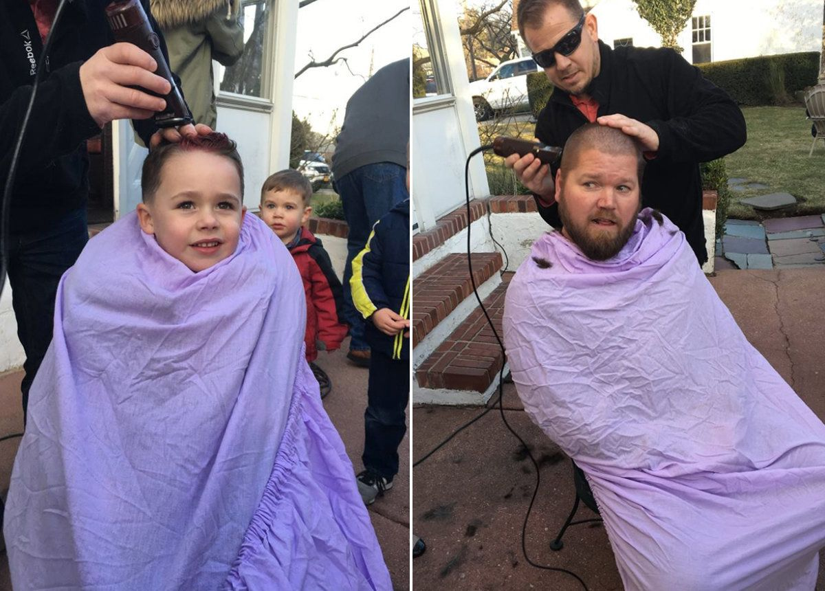 The Men In This Family Shaved Their Heads To Support A Loved One With Breast
