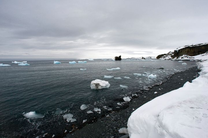 A view from King George Island, Antarctica, which has been experiencing melting glaciers as a result of climate change.