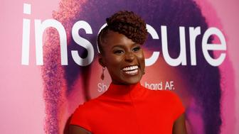 "Creator, executive producer and cast member Issa Rae poses at the premiere for the television series ""Insecure"" in Los Angeles, California U.S., October 6, 2016.   REUTERS/Mario Anzuoni"