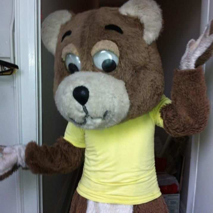 Dressing up as a teddy bear for a music video.