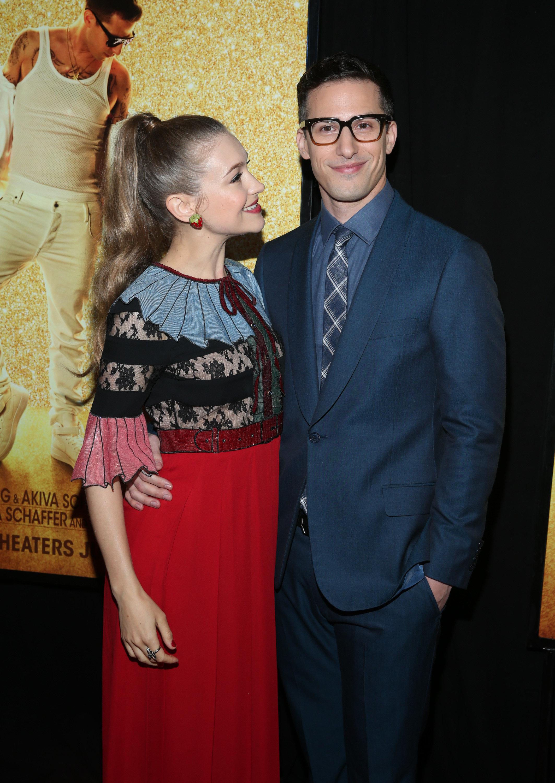 Andy Samberg and Joanna Newsom in May 2016.