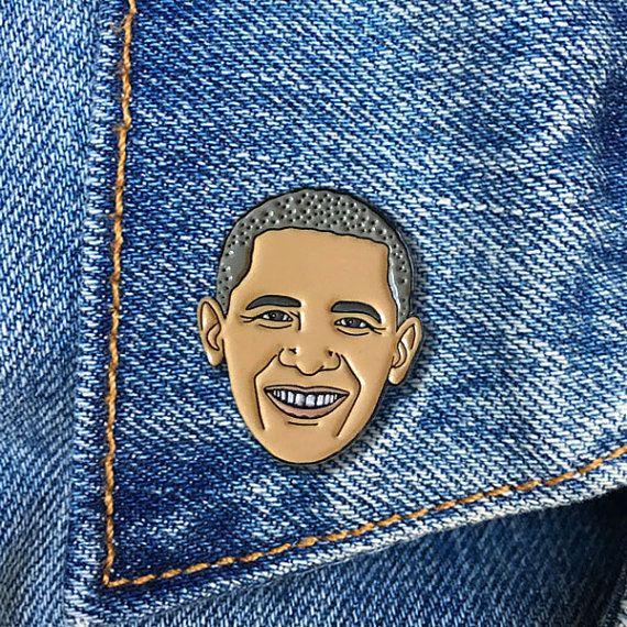 "Buy <a href=""https://www.etsy.com/listing/475988992/barack-obama-enamel-pin-president-soft?&utm_source=google&utm_med"