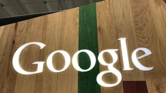 A Google logo is seen in a store in Los Angeles, California, U.S., March 24, 2017. This logo has been updated and is no longer in use.  REUTERS/Lucy Nicholson
