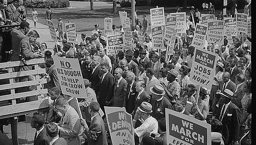 One of history's many civil rights marches on Washington, D.C.