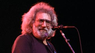 SAN FRANCISC, UNITED STATES - JANUARY 31: Jerry Garcia performing at the Warfield Theater in San Francisco on January 31, 1991. (Photo by Clayton Call/Redferns)