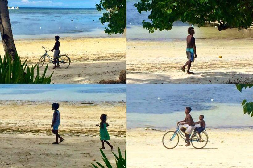 Ati children in Boracay, Philippines