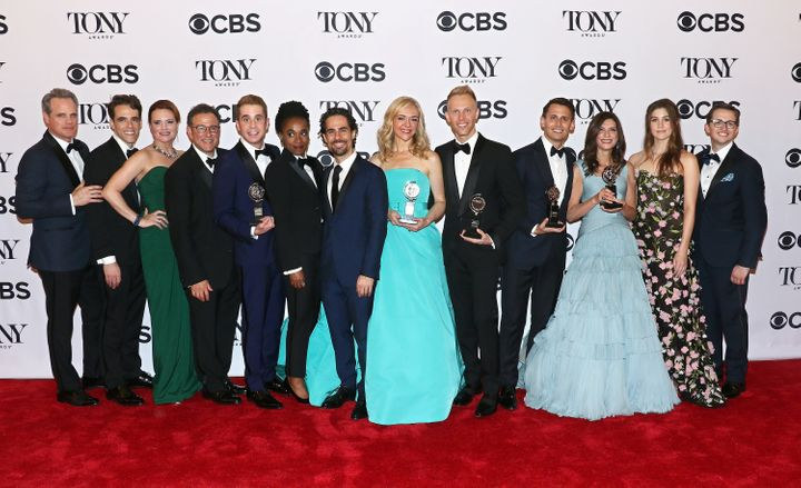 "The cast and crew of ""Dear Evan Hansen,"" winner of six Tony Awards, including one for Best Musical."