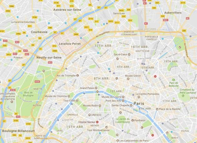 The incident occurred in thenorth-western Paris suburbof