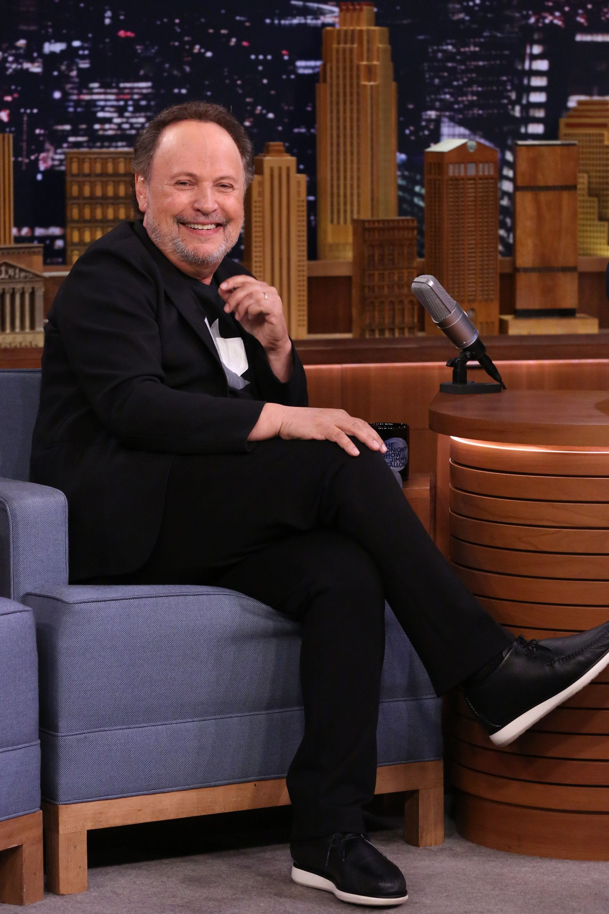 THE TONIGHT SHOW STARRING JIMMY FALLON -- Episode 0721 -- Pictured: Actor Billy Crystal during an interview on August 8, 2017 -- (Photo by: Andrew Lipovsky/NBC/NBCU Photo Bank via Getty Images)