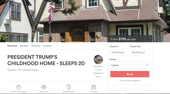 A screenshot of the Airbnb listing.