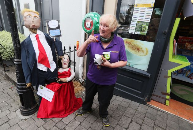A scarecrow entitled 'Lady & The Trump' at the Durrow Scarecrow