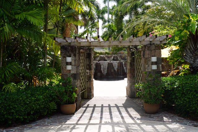 Four Seasons Resort Nevis entrance to spa jacuzzi