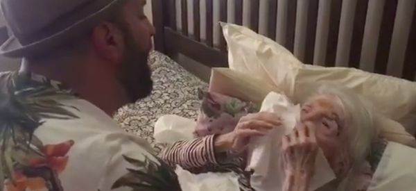 Tear-Jerking Moment Man Sings 'Unforgettable' To Grandma On Her 98th Birthday