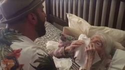 Tear-Jerking Moment Man Sings 'Unforgettable' To Grandma On Her 98th