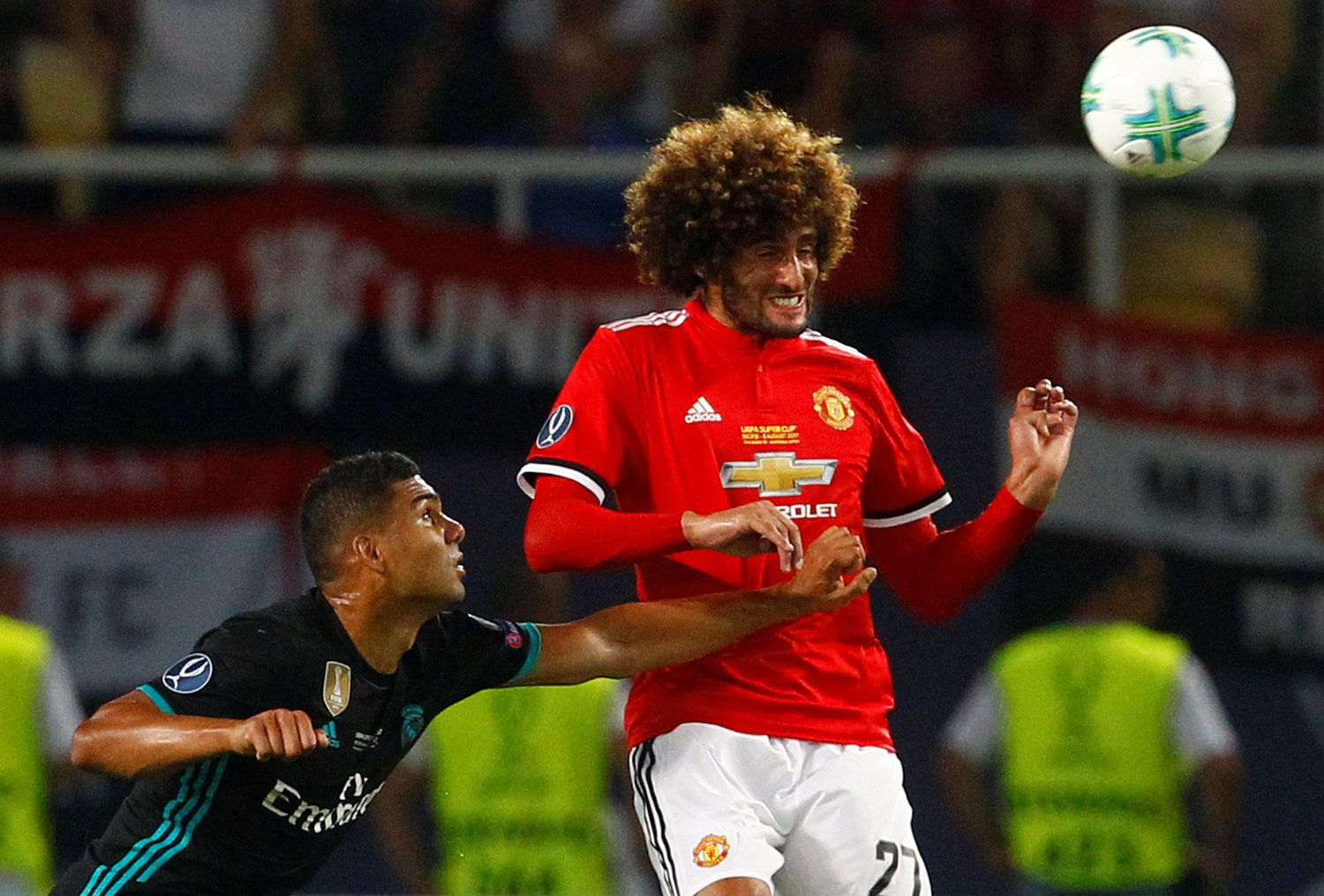 Picture Of A Ball Hitting Marouane Fellaini's Face Sparked Some Glorious