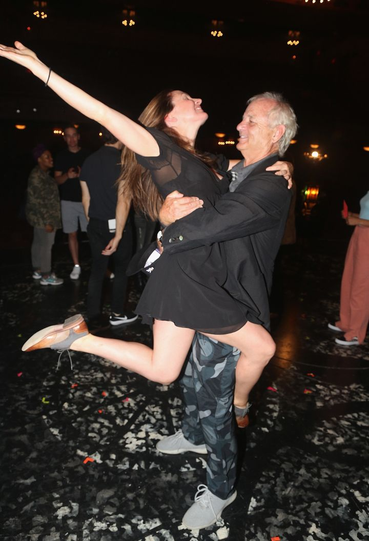 Bill Murray dancing backstage.