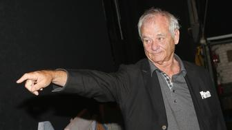 NEW YORK, NY - AUGUST 08:  Bill Murray visits backstage at the hit musical based on the 1993 Bill Murray film 'Groundhog Day' on Broadway at The August Wilson Theatre on August 8, 2017 in New York City.   (Photo by Bruce Glikas/Bruce Glikas/FilmMagic)