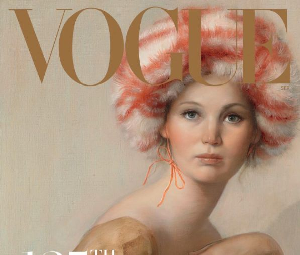 Jennifer Lawrence Is A Retro Vision On Vogue's Anniversary