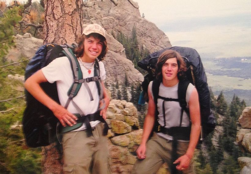 Steve Grand (right) and his brother hiking (photo provided by Steve Grand)