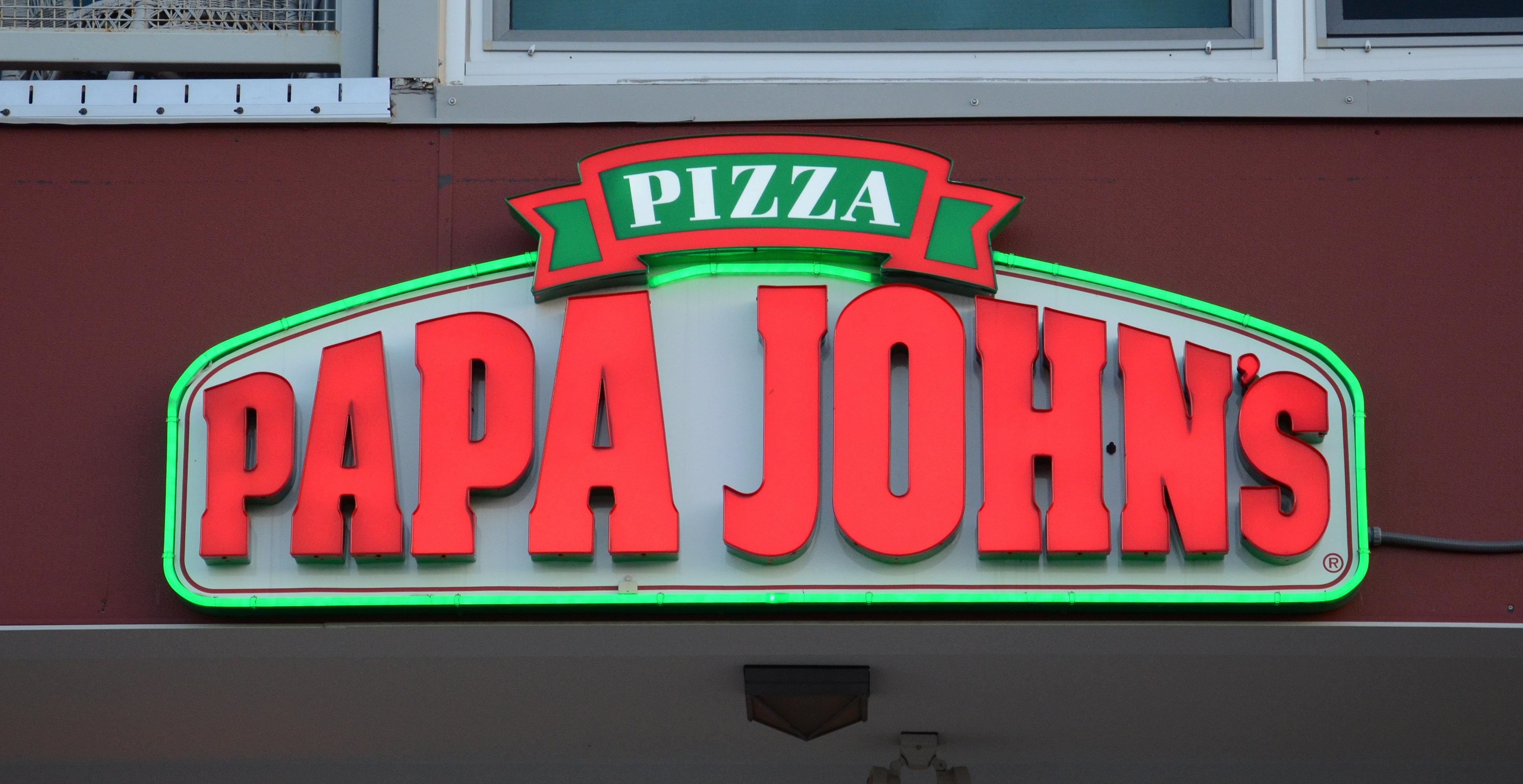 ANN ARBOR, MI - SEPTEMBER 2:  Papa John'??s, whose Ann Arbor, MI store logo is shown on September 2, 2014, has 4,600 locations in 34 countries