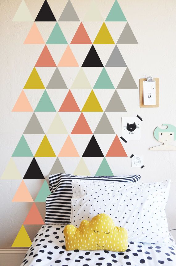 """Temporary wall decals are a fun way to create colorful rooms without committing to covering the entire wall. Some&nbsp"
