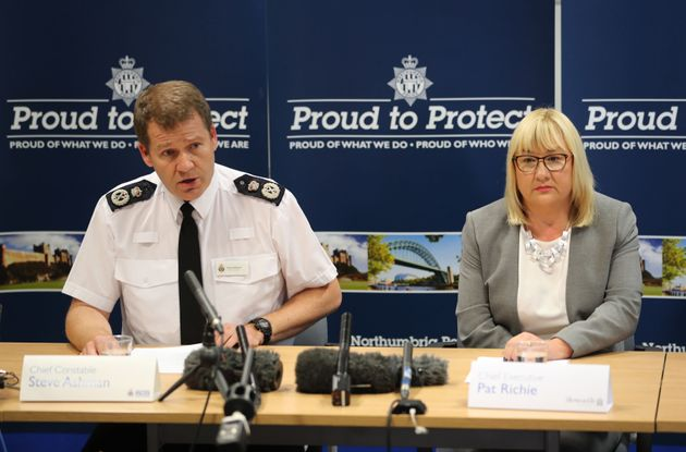 Northumbria Police Chief Constable Steve Ashman and Pat Ritchie, chief executive of Newcastle City Council,...