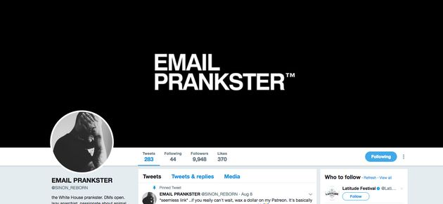 The Email Prankster Twitter
