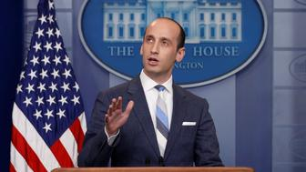 White House senior policy advisor Stephen Miller discusses U.S. immigration policy at the daily press briefing at the White House in Washington, U.S. August 2, 2017.  REUTERS/Jonathan Ernst