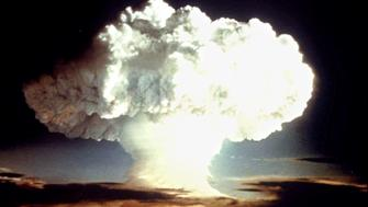 - FILE PHOTO APRIL 1954 -  A nuclear test explosion from April 1954 is shown in this undatelined photo from the U.S. Defense Department. On August 6 1945, the U.S. dropped the first atomic bomb on Hiroshima, Japan, hastening the end of World War II and ushering in the nuclear age